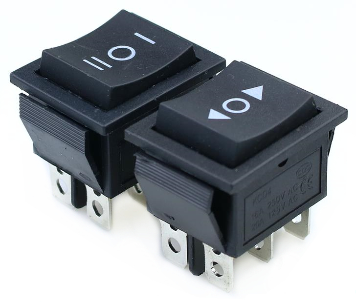 цена на KCD4 1PCS black Rocker Switch Power Switch ON-OFF-ON 3 Position 6 Pins With Light 16A 250VAC/ 20A 125VAC