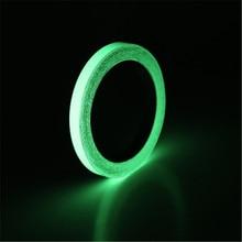10mm*3M Self Adhesive Luminous Tape Glow In The Dark Sticky Tape Saftey Film Sticker Roll цены