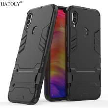 For Xiaomi Redmi 7 Case Rubber Robot Armor Shell Hard PC TPU Back Phone Cover for