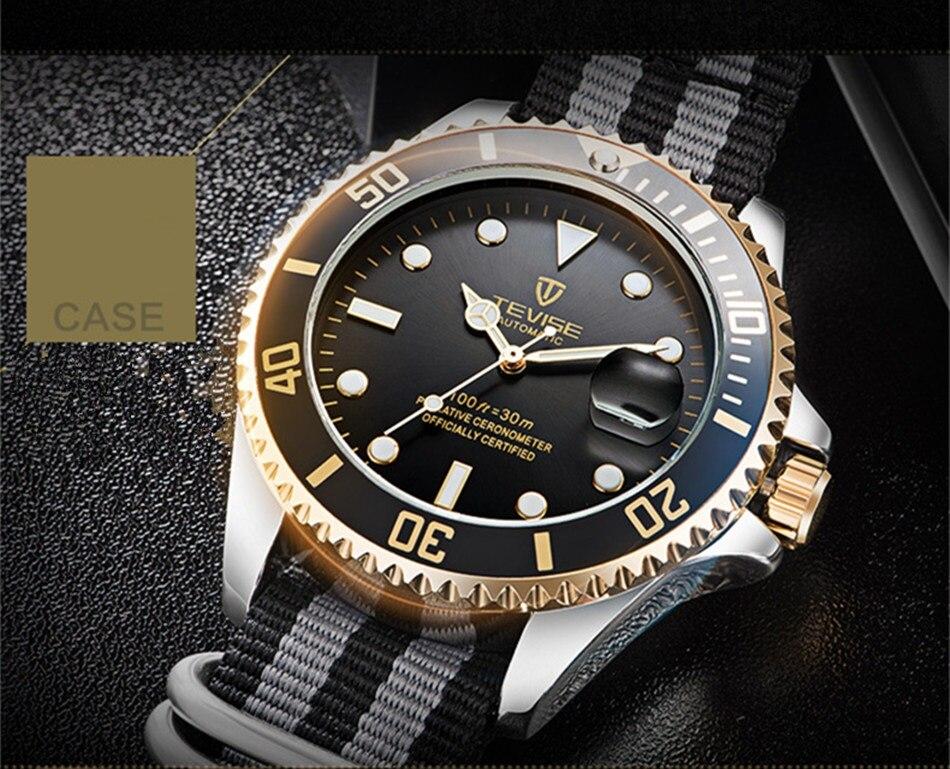 HTB1mINDCgKTBuNkSne1q6yJoXXad Tevise Luxury Waterproof Automatic Men Mechanical Watch Auto Date Full Steel Business Top Brand Man Watches Water Resistant T801