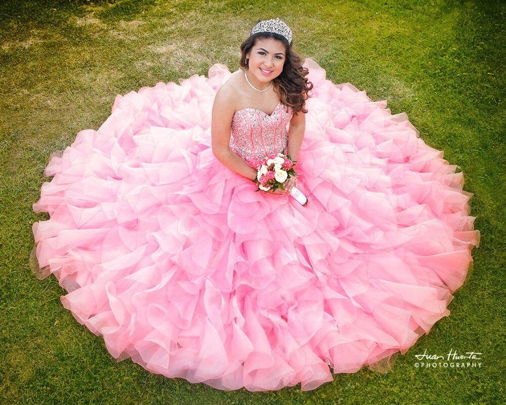 Vestidos de 15 anos Pink Quinceanera Vestidos de Novia 2017 Barato ...