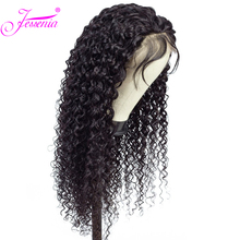 13*4 Lace Frontal Wig Natural Brazilian Remy Curly Wig With Pre Plucked Lace Front Human Hair Wigs For Black Women Bleached Knot