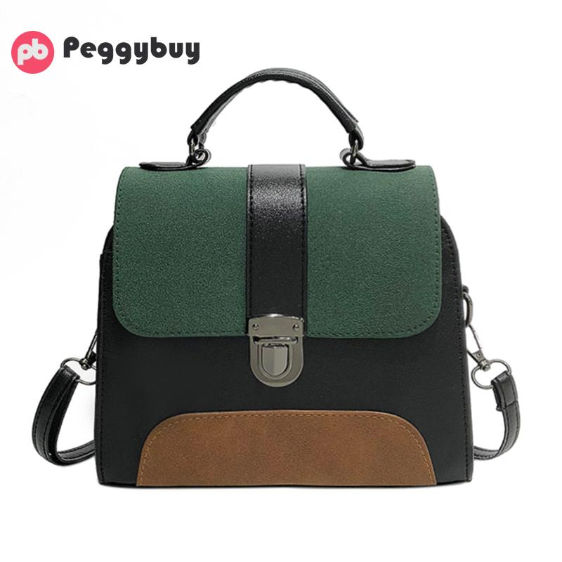 New Casual Crossbody Bag for Women PU Leather Handbag Girl Patchwork Color Purse Clutch Fashion Designer Messenger Shoulder Bag new fashion women girl student fresh patent leather messenger satchel crossbody shoulder bag handbag floral cover soft specail