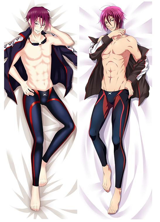 Japan Anime  Free! Eternal Summer Rin Matsuoka Hugging Body Pillowcase Pillow Cover