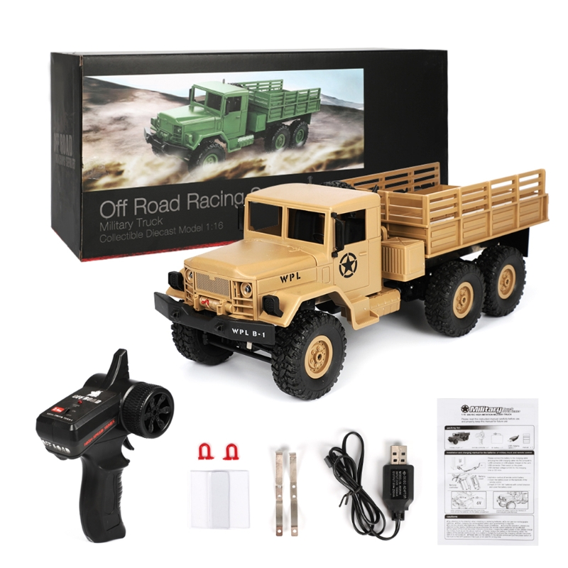 2018 NEW WPL B16 RC Military Truck Kits 4WD 1/16 Off-road Crawler Car Toy Boys Kids DIY