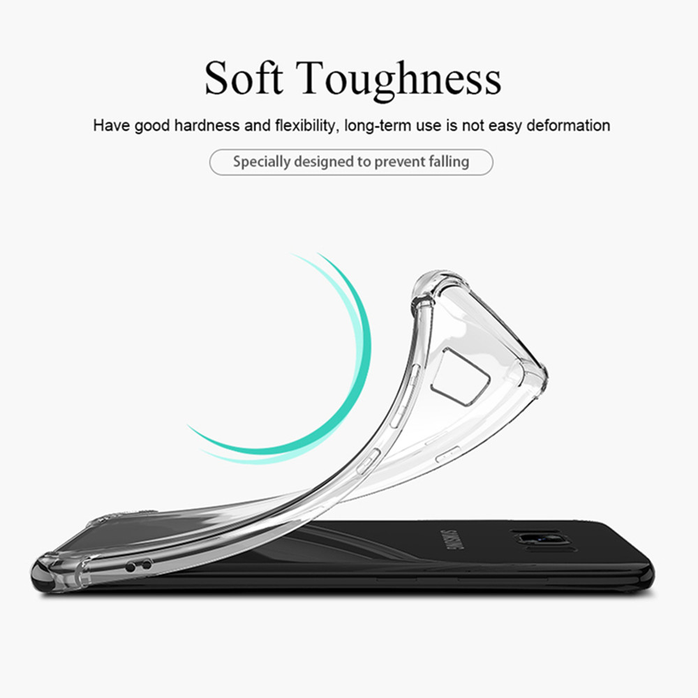 New For Samsung Galaxy A9 A8 A6 Plus 2018 Air Bag Soft TPU Clear Case For Samsung Note 9 8 5 4 S7 S8 S9 Plus Full Body Soft Case in Fitted Cases from Cellphones Telecommunications