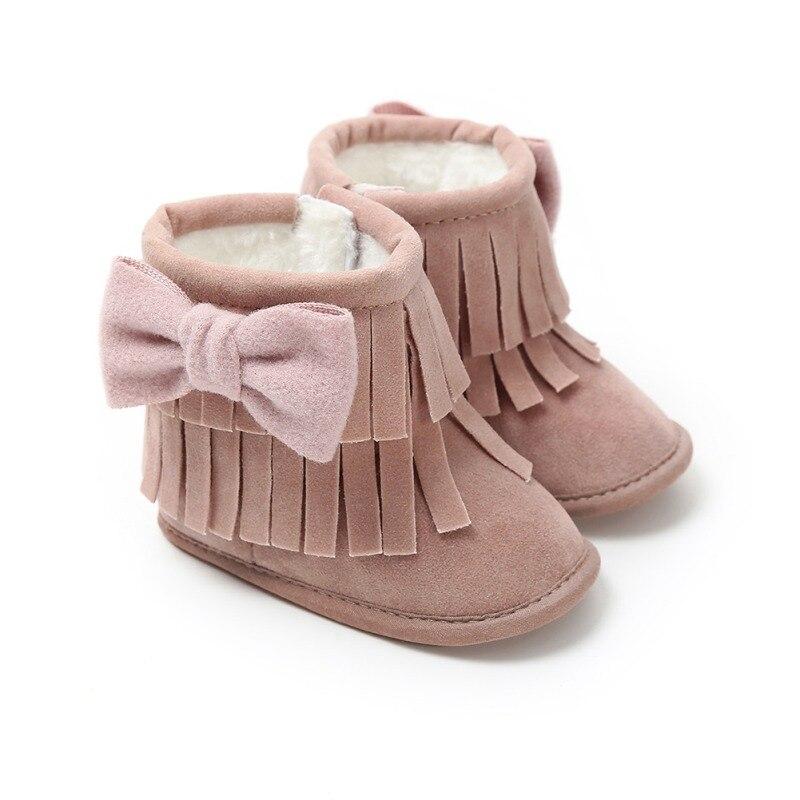 Logisch Bebe Mokassin Stiefel Neugeborene Baby Mädchen Jungen Kinder Solide Fringe Schmetterling Knoten Schuhe Infant Kleinkind Weiche Sohlen Anti-slip Stiefel 0-18 Mt Stiefel