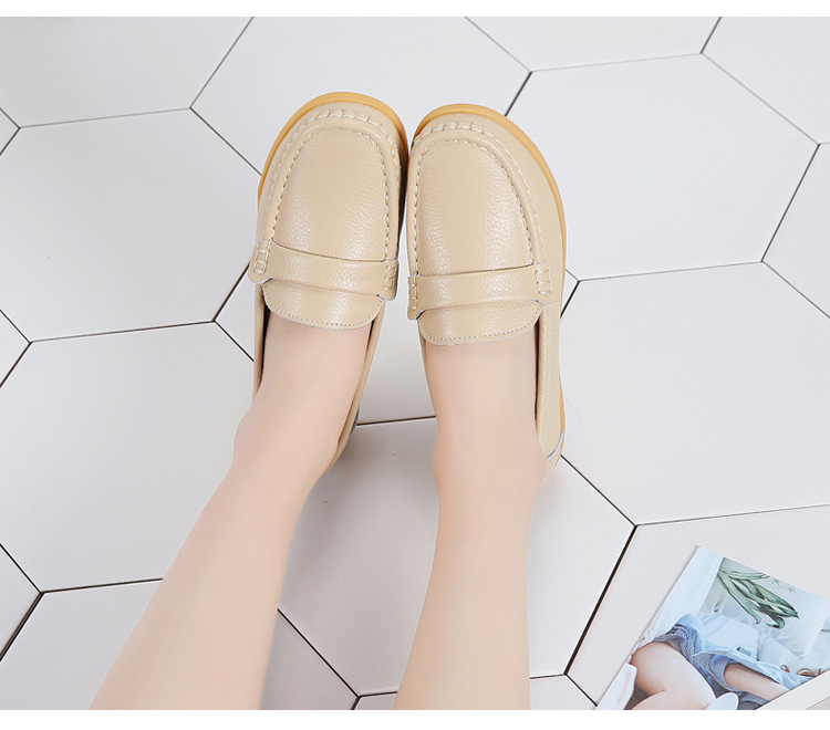 AH 2020-2019 Spring Autumn Women Loafers Genuine Leather Woman's Flats-15