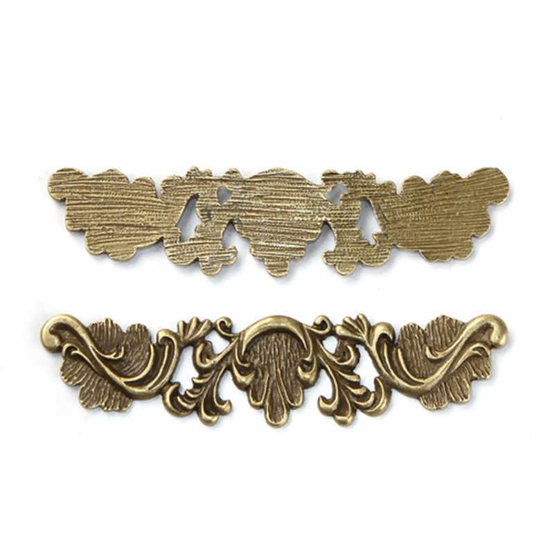 "DoreenBeads โลหะผสมสังกะสี Embellishments สี่เหลี่ยมผืนผ้า Antique Bronze Filigree DIY 75 มม.(3 "") x 18 มม.(6/8 ""),1 ชิ้น"