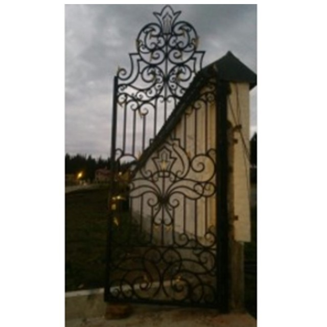 Contemporary Metal Gates House Gate Design In Driveway Detector Hench