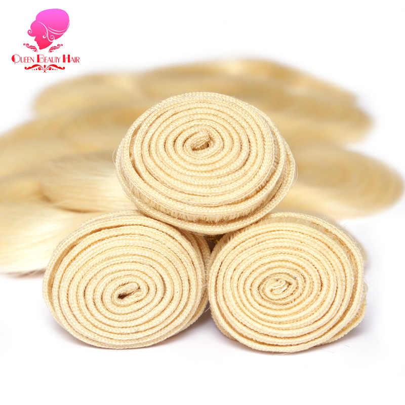 KONINGIN SCHOONHEID 1/3/4 Remy Human 613 Blond Body Wave Maleisische Haar Weave Bundels 8 10 12 14 16 18 20 22 24 26 28 30 32 34 36 inch