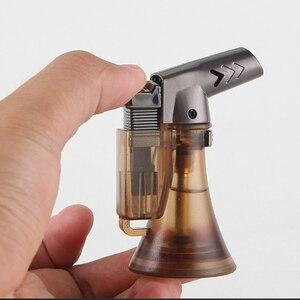 Image 4 - Pipe Lighter Spray Gun Compact Butane Jet Cigar Lighter Torch Turbo Lighter 1300 C Flated Windproof Metal Jet Lighter NO GAS