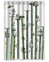 Pandas And Bamboos Custom Fashion Home Living Waterproof Bathroom Decor Shower Curtain 48 X72 FREE SHIPPING