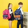 Primäre schule jungen und mädchen schul Britischen college cartoon kinder rucksack