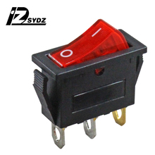 KCD3 black boat type switch Rocker Switch 25x20mm 16A250V 3-pin 2-gear boat type button switch Food Steamer switch