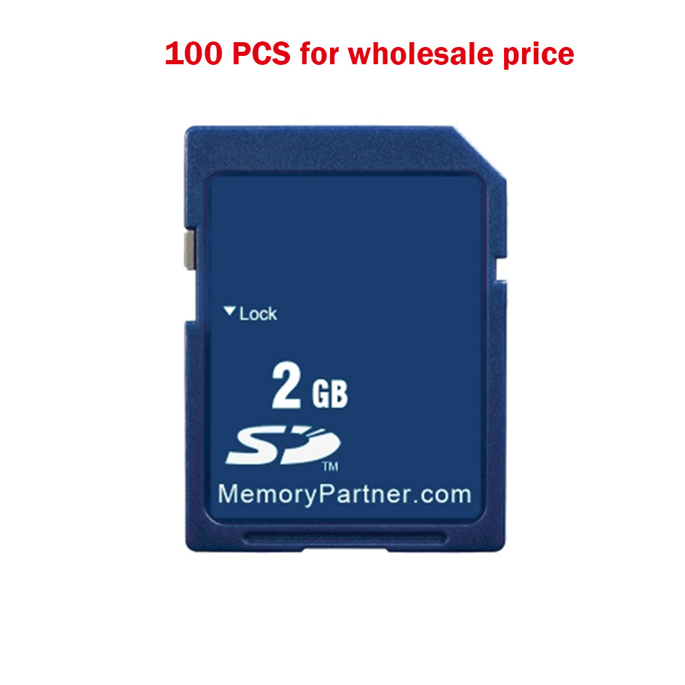 100PCS Wholesale Price SD Card 2GB SD SD-card Secure Digital Flash Memory Card Tarjeta Karte Carte SD Memory-card Free Shipping цена
