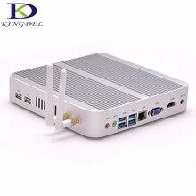 Kingdel 8G RAM + 256 GB 300 M WIFI Gigabit bez wentylatora Broadwell Linux mini PC Intel Core i3 5005U HD5500 mały komputer NC240
