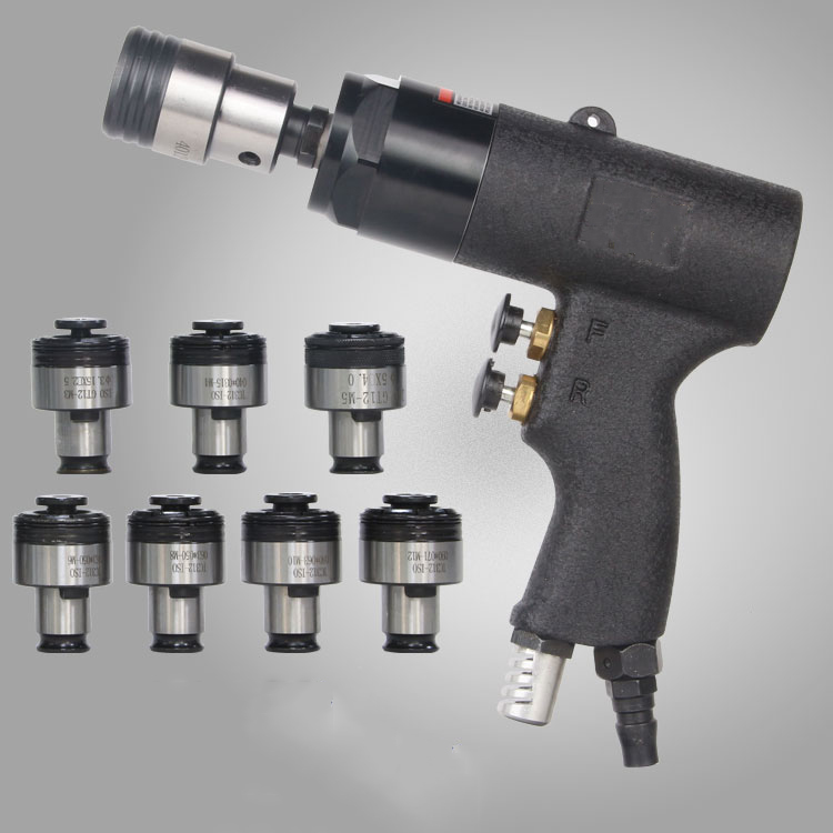 Tapping Tool 400rpm Pneumatic Tapping Machine Torque Protected Self-locking & 7pcs Chuck M3/M4/M5/M6/M8/M10/M12  цены