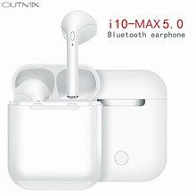 I10 max СПЦ мини Беспроводной Bluetooth наушники стерео вкладыши Спорт гарнитура Беспроводной наушники с зарядки коробка микрофона для телефона