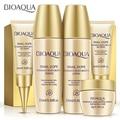 5Pcs Travel Size Snail Dope Skin Care Kits Hydrating Moisturizing Serum Lotion Emulsion Toner BB Cream Eye Cream Face Care Sets