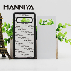Image 2 - MANNIYA per Samsung Galaxy S10/S10 Plus/S10 Lite Sublimazione in bianco TPU + PC della Cassa della gomma con Alluminio inserti e Colla 100 pz/lotto