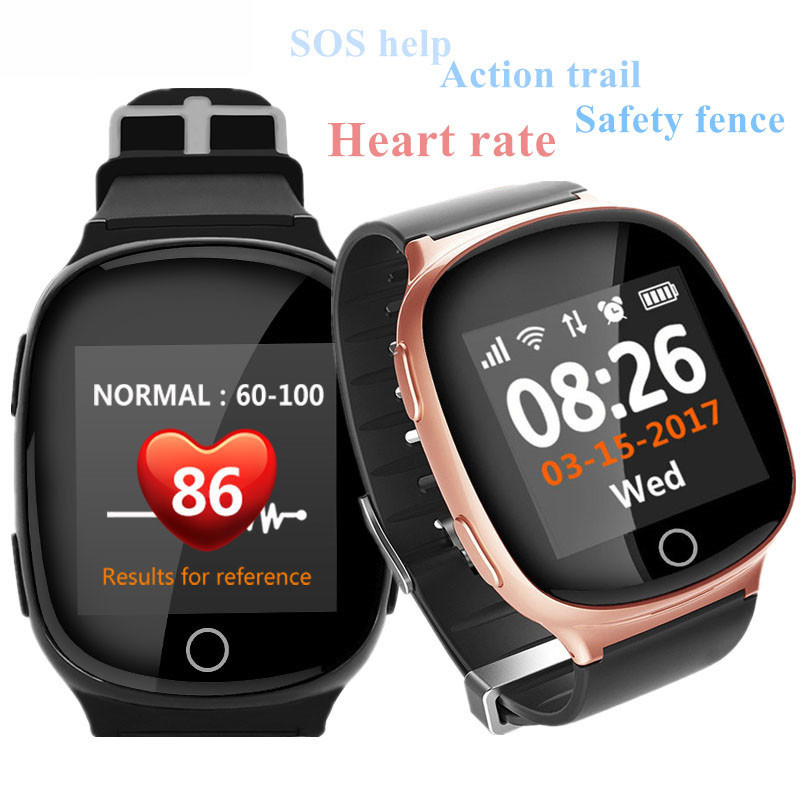 Old Man Smart Watch GPS LBS Wifi Location Track Anti lost Smartwatch Heart Rate Monitor with