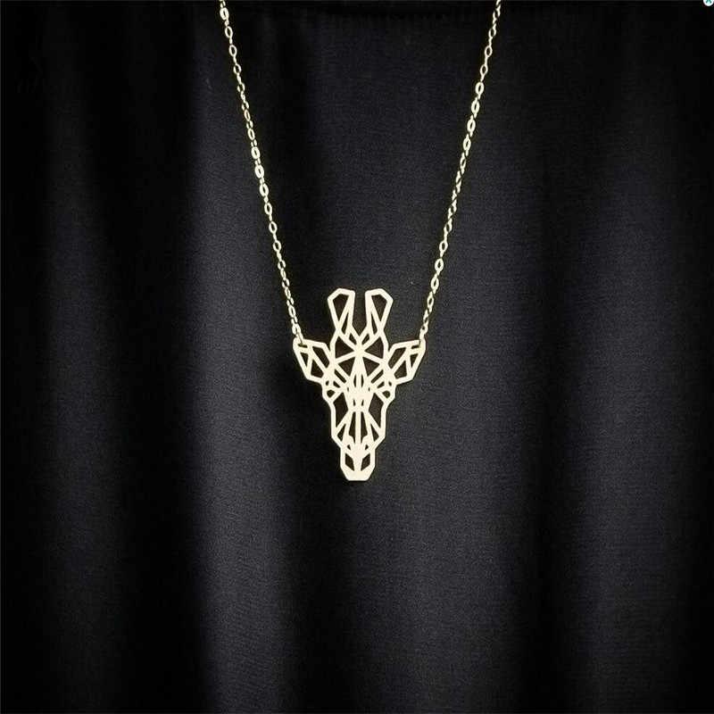 Oly2u Geometric Necklace Giraffe Necklace Giraffe Gift Geometric