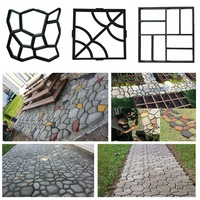 DIY Path Maker Mold Manually Paving Cement Brick Molds Garden Stone Road Concrete Molds Pavement For Garden Home