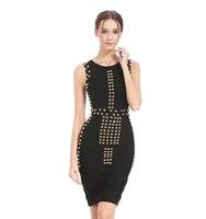 Rayon Womens Classic Zipper Patchwork Dress Diamond O Neck Sleeveless Wear To Work Party Bodycon Sheath Pencil Hip Clothes