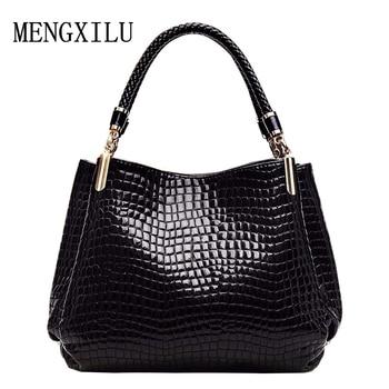 2017 designer Brand Leather bolsas femininas Women bag ladies Pattern Handbag Shoulder Bag Female Tote Sac Crocodile Bag