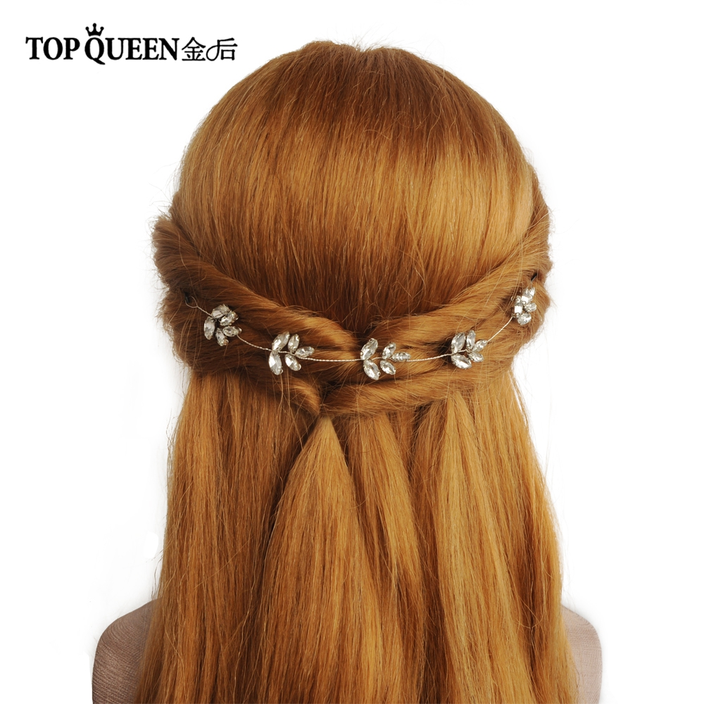 TOPQUEEN HP83 Crystal Bride Hair Jewelry Wedding Tiara Wedding Headpiece For Bride Wedding Headband Wedding Hair Accessories