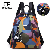 Fashion Big Floral Highschool School Bags Girls Women Backpack Waterproof Female Bag For Teenager