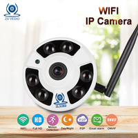 ZSVEDIO IP Camera Wi Fi CCTV HD 720P 960P 1080P Surveillance Camera 360 Degree VR Panorama