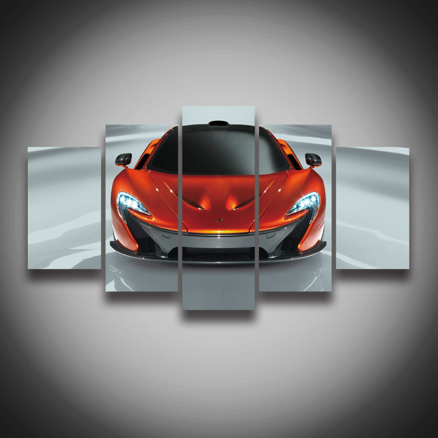 high quality framed printed red sports car posters canvas painting for wall home decoration novelty canvas