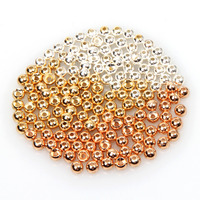 Tungsten Fly Tying Beads Fly Fishing Nymph Head Ball Beads 50pcs Lot Gold Silver Copper Beads