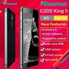 Hisense C20S IP67 Octa Core Étanche Robuste Smartphone 5 pouces 13MP 3 GB RAM 32 GB ROM android Mobile téléphone d'empreintes digitales IP68 C20