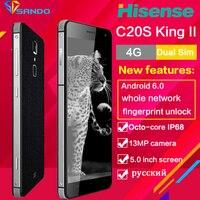 Hisense C20S Núcleo octa Smartphones Robusto À Prova D' Água IP67 5 polegadas 13MP 3 GB RAM 32 GB ROM android telefone Móvel impressão digital IP68 C20s