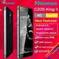 Hisense c20s octa core smartphone reforzado a prueba de agua ip67 5 pulgadas 13mp 3 gb ram 32 gb rom móvil de huellas dactilares presente protector de la pantalla