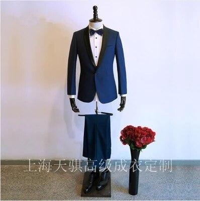2018 nouvelle marque hommes costumes tailleur costume Blazer costumes laine rétro gentleman style personnalisé pour hommes 3 pièces (veste + pantalon + gilet)