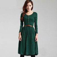 2017 Elegant Colours Blocks Dresses Knitting Slim Fit O Neck Women Sexy Party Night Club