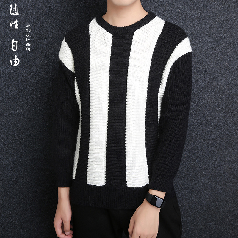 2018 hommes chandail Patchwork pull hommes chandail