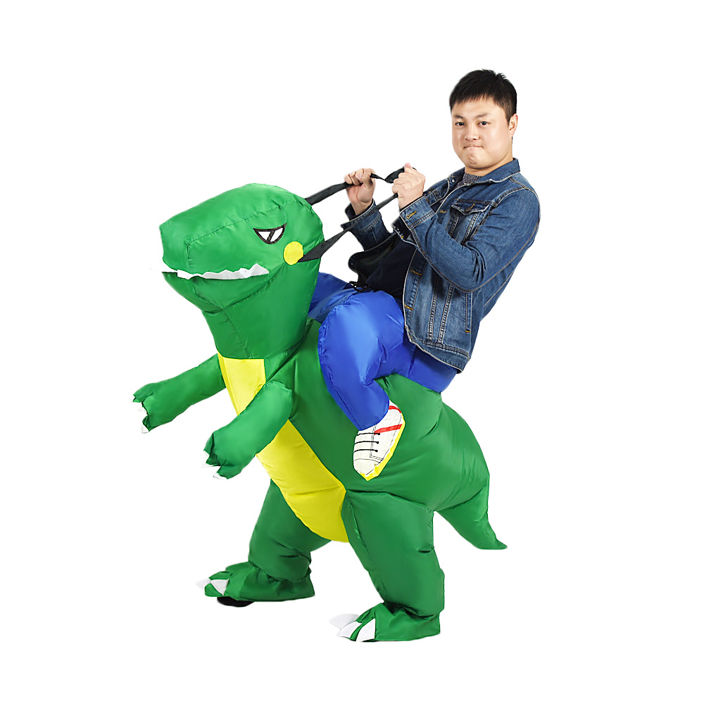 Women Men Inflatable Dinosaur Costumes Halloween Christmas Party Cosplay Outfits Blowup Suit Adult Carnival Dress Mascot Clothes