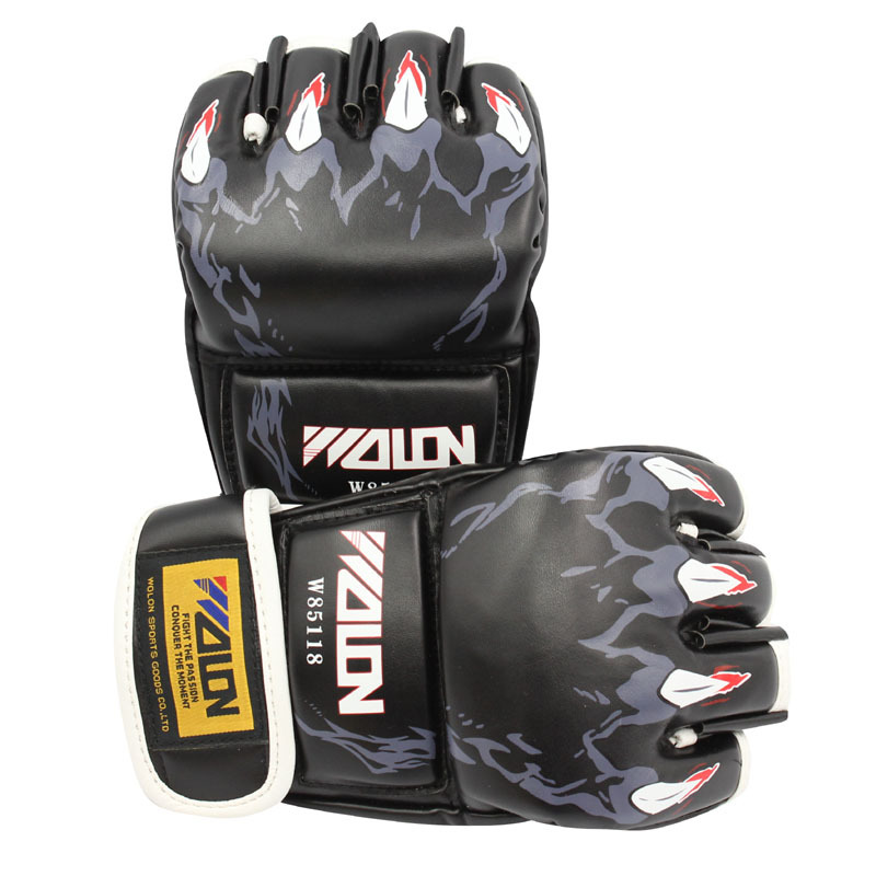 Half Boxing font b Gloves b font Men Women boxeo luva de muay thai Fight Martial
