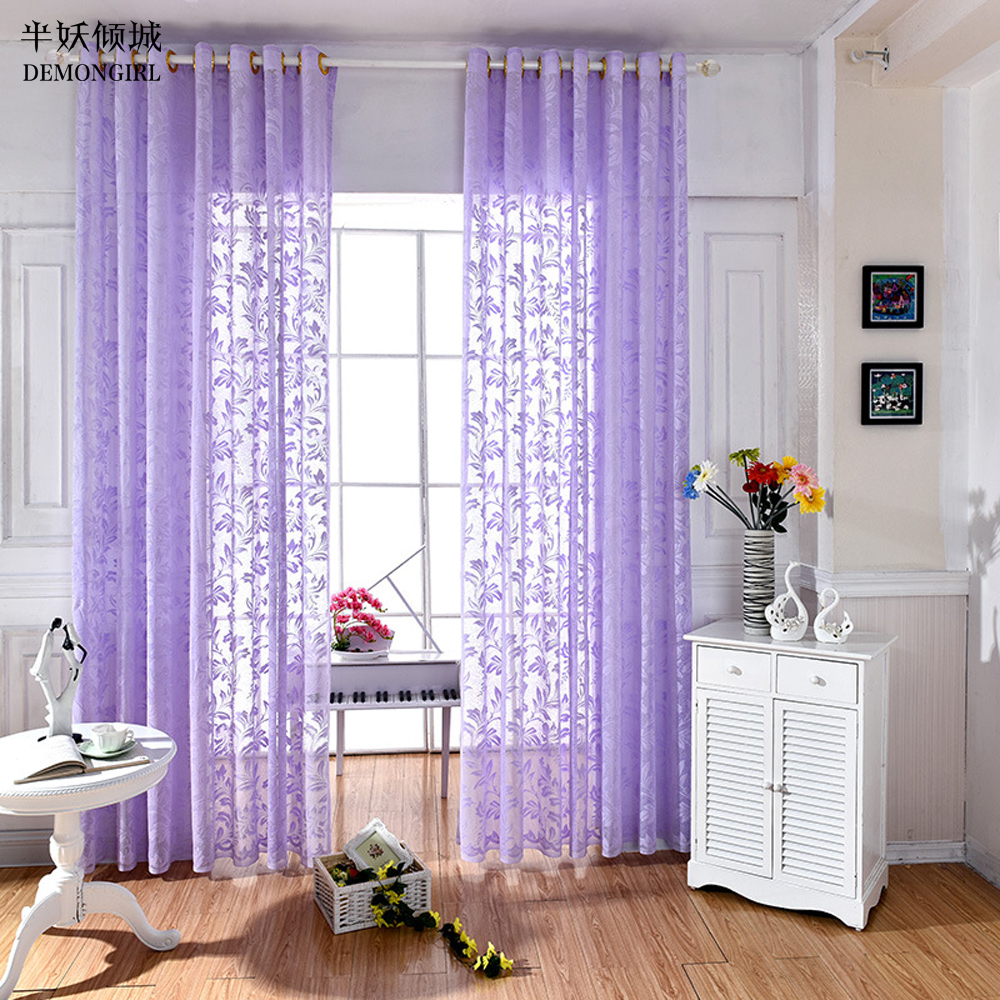 Sheer Bedroom Curtains Online Get Cheap Purple Sheer Curtains Aliexpresscom Alibaba Group