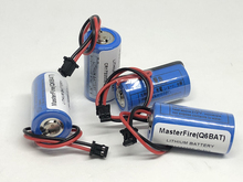 MasterFire 4pcs/lot New Original CR17335SE-R(3V) CR17335 Q6BAT CNC 3V PLC Lithium Battery Batteries with Plugs