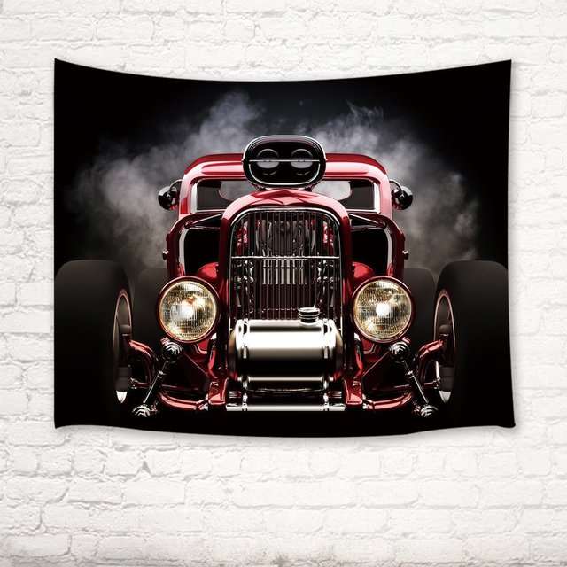 Aliexpress.com : Buy Classic Cars Decor Tapestry Vintage American ...