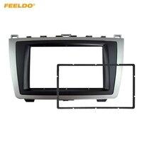 FEELDO Car 2DIN Audio Radio Fascia For Mazda 6 2009 2013 Stereo Plate Panel Frame Installation Dash Mount Trim Kit #MX5005