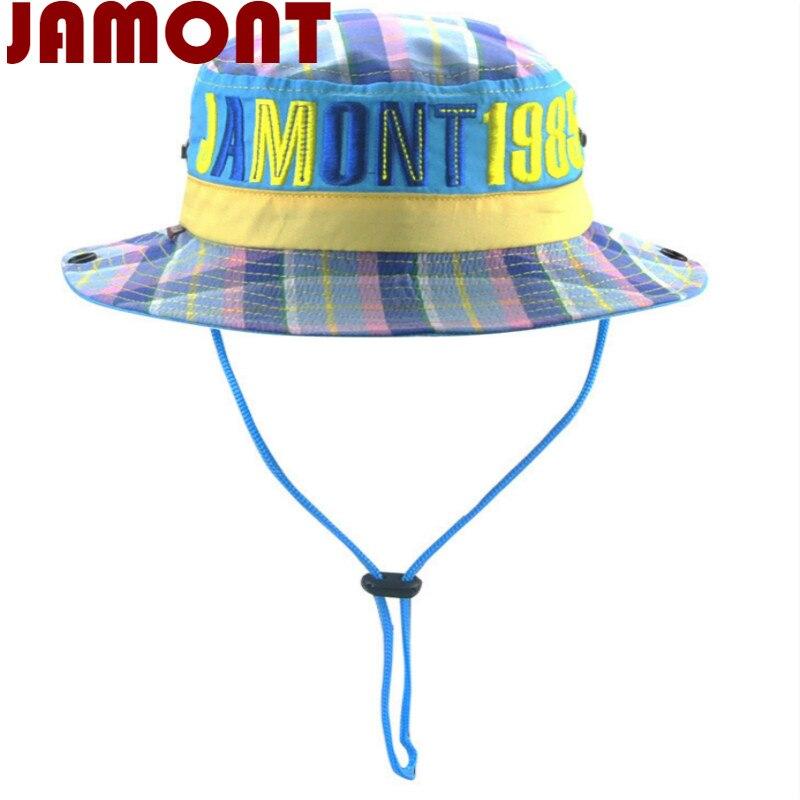 7fba959d730  JAMONT  Casual cotton children wide brim camo bucket hat kids boy girl  summer sun hat Camouflage ...