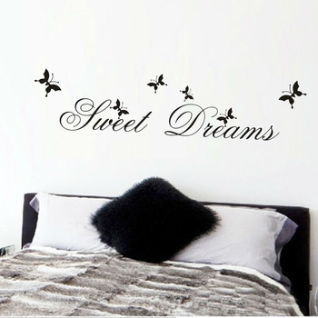 sweet dreams butterfly wall stickers-Free Shipping Butterfly Wall Stickers For Bedroom Star Wars WallPapers Wall Stickers With Quotes