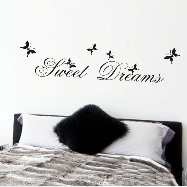 sweet dreams wall stickers bedroom decoration diy home decor wall